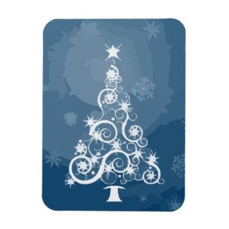Christmas tree illustration rectangle magnets