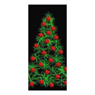 Christmas tree illustration customized rack card