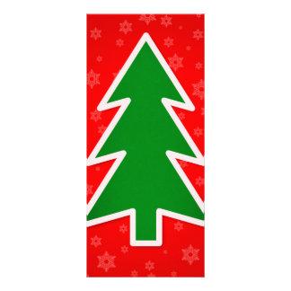 Christmas tree illustration custom rack card
