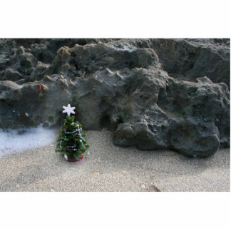 Christmas Tree In Front Of Rocks jpg Cut Out
