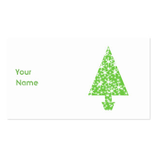 Christmas Tree in Green and White. Business Card Templates