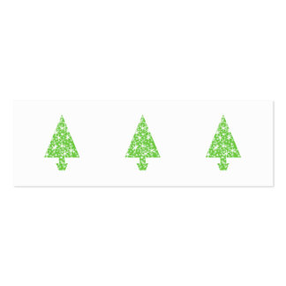 Christmas Tree in Green and White. Business Cards
