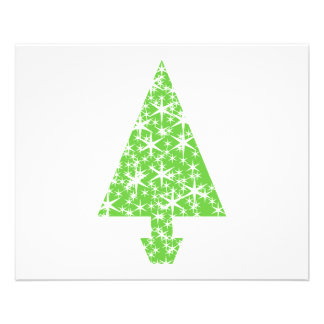 Christmas Tree in Green and White Personalized Flyer