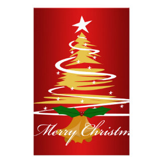 CHRISTMAS TREE IN RED AND GREEN STATIONERY