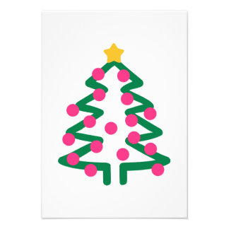 Christmas tree personalized invitation