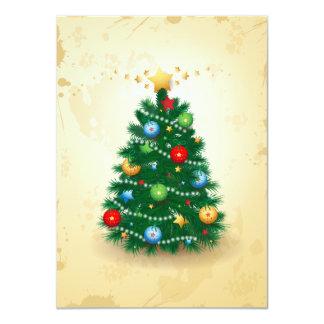 Christmas tree, invitation