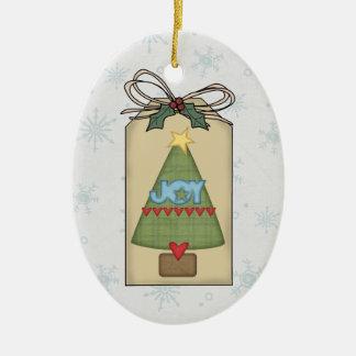 Christmas Tree Joy Gift Tag Ornament
