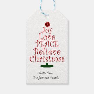 Christmas Tree Joy Gift Tags