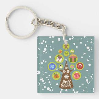 Christmas tree key ring