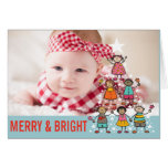 Christmas Tree Kids Holiday Birth Announcement