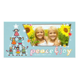 Christmas Tree Kids Holiday Greeting Photo Card