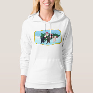 Christmas Tree Labradors in the snow Hoodie