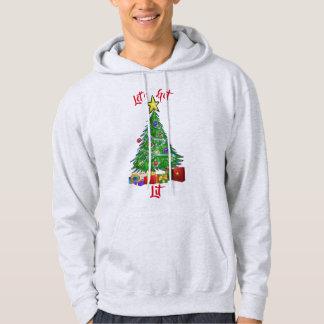 Christmas tree let's get lit men's hoodie design