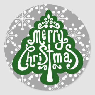 Christmas Tree Letter Seal and Stickers