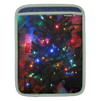 Christmas tree lights iPad sleeves