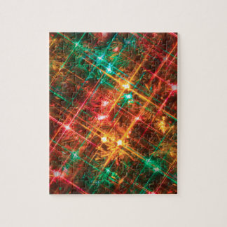 christmas tree lights jigsaw puzzle