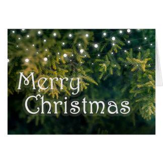 Christmas Tree Lights, Merry Christmas Card