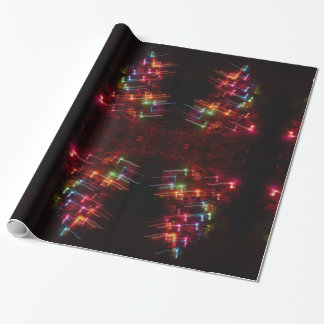 Christmas Tree Lights Music Notes Wrapping Paper