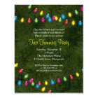 Christmas Tree Lights Party Invitation