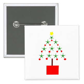 Christmas tree made of stars clipart buttons