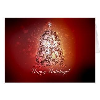 Christmas Tree Magic and Enchanted Modern Note Card