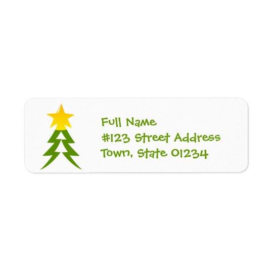Christmas Tree Mailing Label