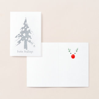 Christmas tree maps foil card