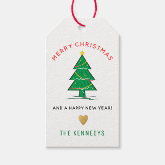 Christmas Tree Merry Christmas Gift Tags