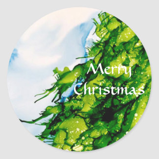 Christmas Tree—Merry Christmas Sticker