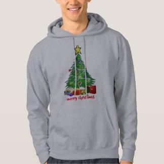 Christmas tree merry christmas womens men's hoodie