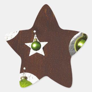 Christmas Tree Metal Green Ornament Sticker