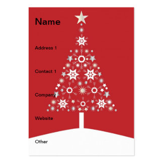 Christmas tree modern illustration business card