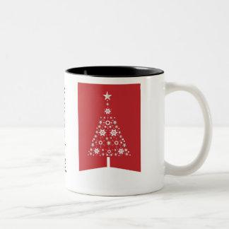 Christmas tree modern illustration mug