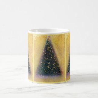 Christmas Tree Mug, green, gold Coffee Mug