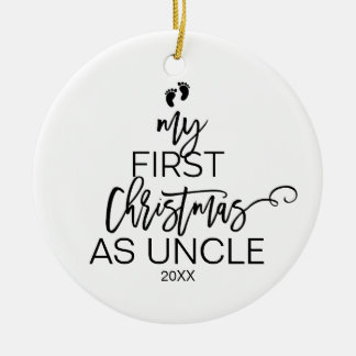 Christmas Tree My First Christmas as Uncle Ceramic Ornament