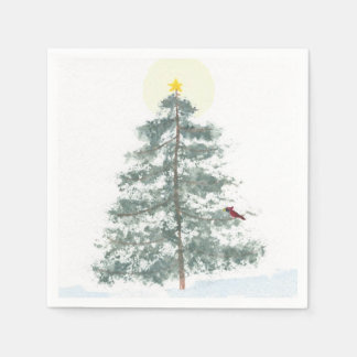Christmas tree napkins disposable serviette