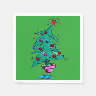Christmas Tree Napkins Paper Serviettes
