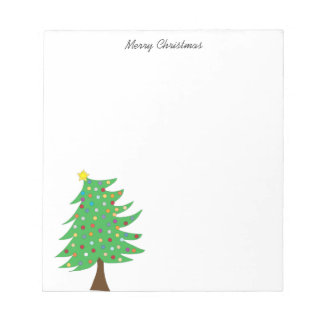 Christmas tree note pad