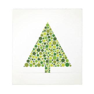 Christmas tree notepad