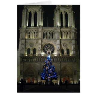 Christmas Tree Notre Dame Card