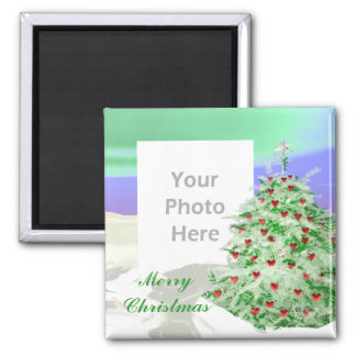 Christmas Tree of Hearts (photo frame) Magnets