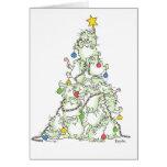 CHRISTMAS TREE OF KITTIES card by Sandra Boynton
