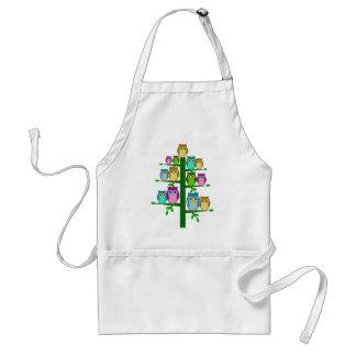 Christmas tree of owls standard apron