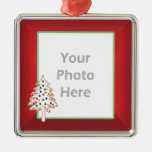Christmas Tree on Red (photo frame)