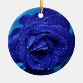 Christmas Tree Ornament - Blue Rose