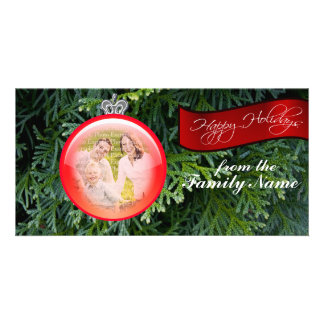 Christmas Tree Ornament Custom Photo Template Photo Card