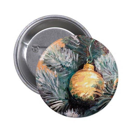 Christmas Tree Ornament Gold Pins