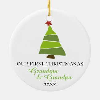 Christmas tree ornament Grandma and Grandpa
