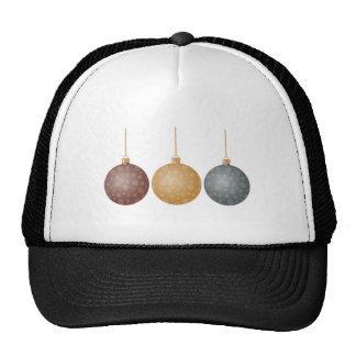 Christmas Tree Ornaments Bronze Gold Silver Balls Cap