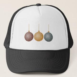 Christmas Tree Ornaments Bronze Gold Silver Balls Trucker Hat
